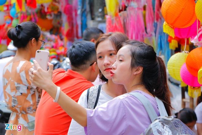 Pho den long Hang Ma dong loat treo bien 'Cam chup hinh' anh 3