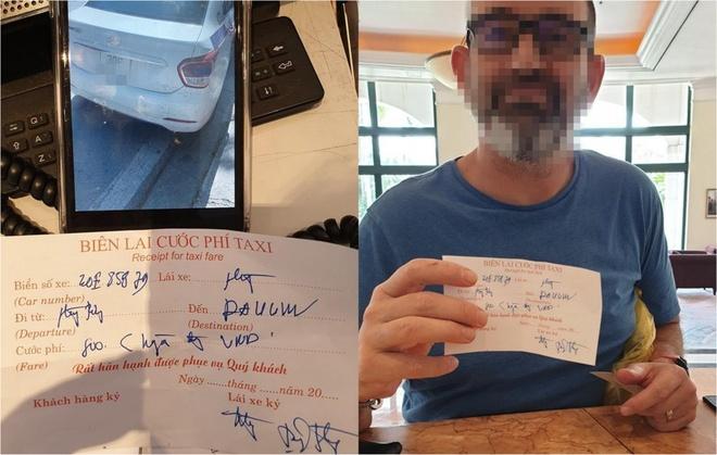 Khach Tay bat taxi di 4 km,  bi 'chat chem' 960.000 dong anh 1