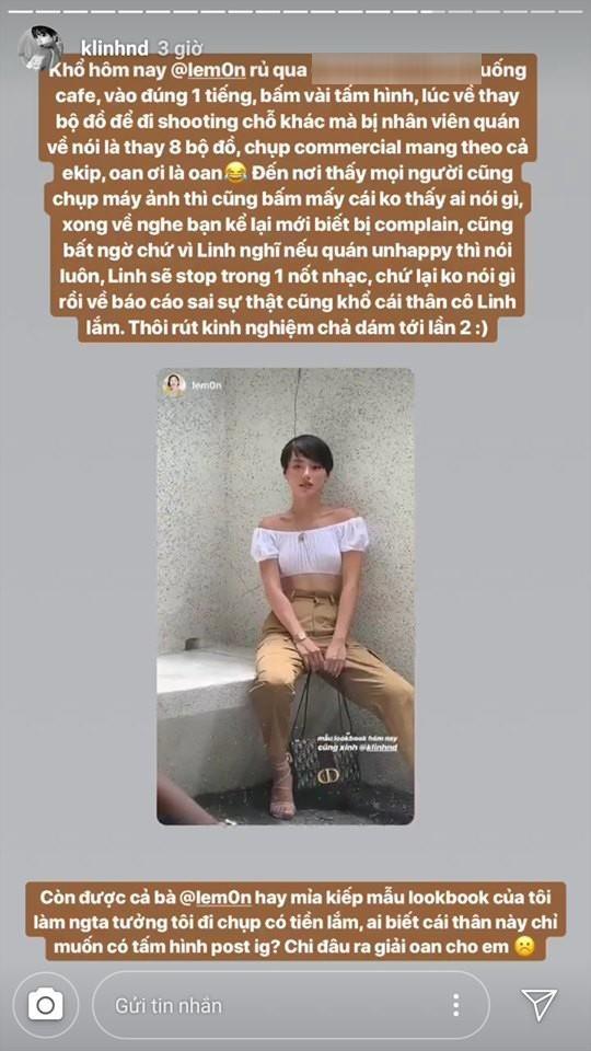 Khanh Linh 'The Face' noi gi khi bi to chup lookbook khong xin phep hinh anh 1
