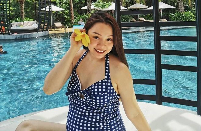 Khi mang bau, blogger Trinh Pham cham khoe anh bikini hon hoi con gai hinh anh 5