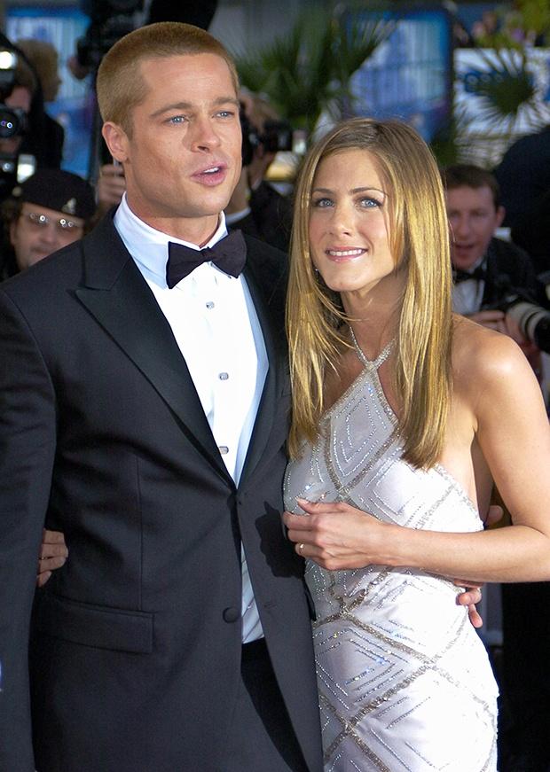 Jennifer Aniston va Brad Pitt anh 1