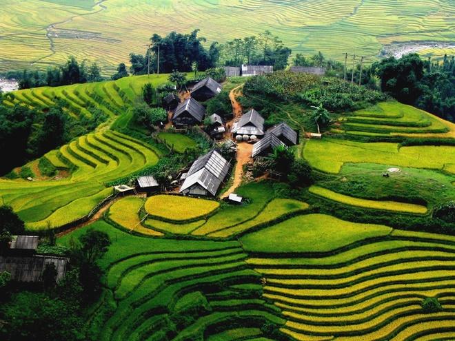 """10 thang canh du lich hap dan nhat Viet Nam hinh anh 12 Năm 2009, Tạp chí Travel and Leisure (Mỹ) cũng đã bình chọn ruộng bậc thang Sa Pa là 1 trong 7 ruộng bậc thang đẹp nhất, kỳ vỹ nhất châu Á và thế giới. Tháng 12/2011 tạp chí du lịch Lonely Planet (Anh) đã giới thiệu vùng đất """"Sa Pa là một trong 10 điểm tuyệt vời trên thế giới cho môn đi bộ"""" và đầu tháng 11/2013, Bộ Văn hóa – Thể thao và Du lịch cũng đã quyết định xếp hạng ruộng bậc thang Sa Pa là Di sản danh thắng Quốc gia."""