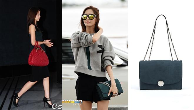 Ngoài trang phục, Yoona dường như rất yêu chuộng các kiểu giỏ xách hàng hiệu khác nhau, đặc biệt là những chiếc túi xách xinh đẹp và phong cách của Marc By Marc Jacobs.