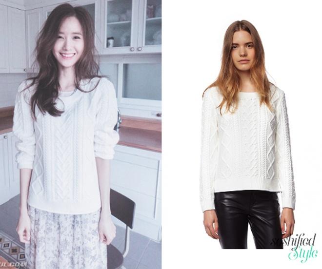 Thỉnh thoảng, trong tủ đồ của Yoona lại xuất hiện những mẫu trang phục nữ tính, ngọt ngào của Claudie Pierlot.