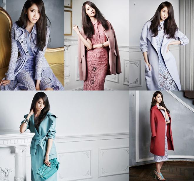 Hàng loạt mẫu áo choàng, váy hay đầm dài nằm trong bộ sưu tập Burberry 2014 đã được người đẹp chọn để xuất hiện quyến rũ trên các bộ ảnh thời trang.