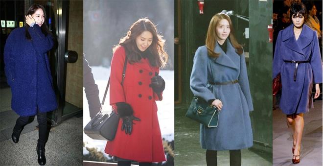 Dường như Yoona rất thích áo khoác, vì trong tủ đồ hàng hiệu của cô nàng chứa hàng loạt thiết kế khoác ngoài sang trọng, độc đáo của Dolce & Gabbana, Lanvin, Marc By Marc Jacorb, Kenzo …