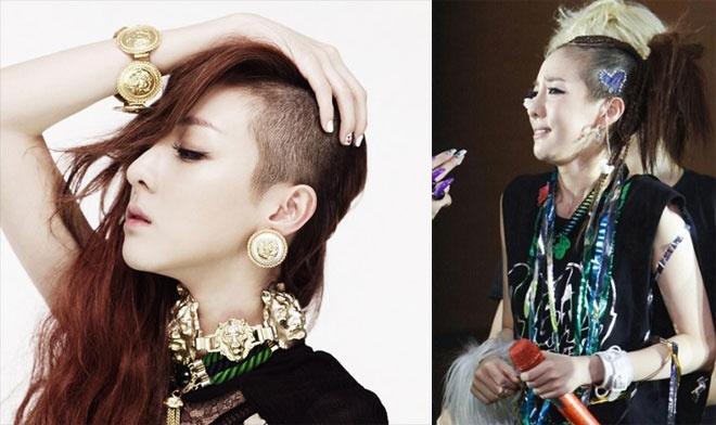 Nhung kieu toc co mot khong hai cua sao Han hinh anh 20 Kết hợp giữa tóc xoăn xù mì với những lọn tóc suông dài óng ả, búi xù hoặc chọn kiểu bất đối xứng như thế này, Dara không hổ danh là cô ca sĩ đi đầu trong phong cách tóc quái chiêu của Kpop.