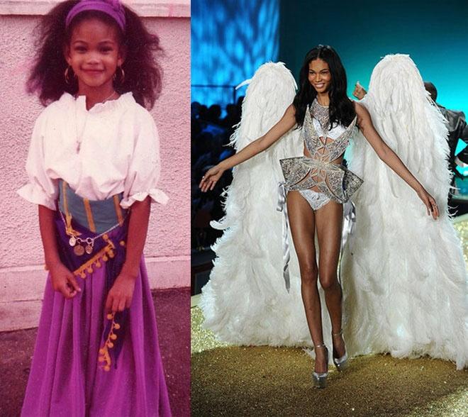 """Anh tho au cua dan sieu mau quoc te hinh anh 9 Chanel Iman, """"viên ngọc đen"""" của làng thời trang quốc tế có được thân hình mảnh mai và đôi chân dài miên man rất đáng ganh tị ngay từ khi học tiểu học."""