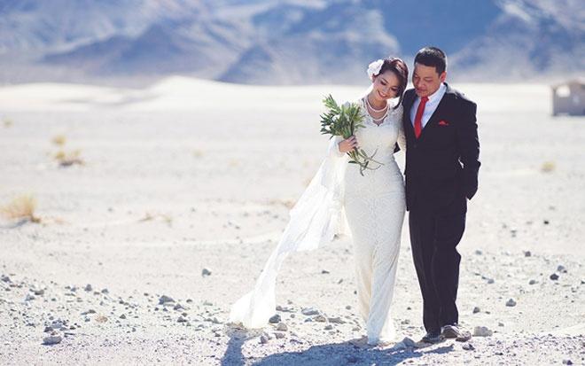 So dang cap vay cuoi cua 5 nang dau xinh dep Vbiz hinh anh 12 Giống Ngọc Quyên, Kim Hiền chọn phong cách đơn giản nhưng tinh tế, sang trọng trong tất cả kiểu trang phục cưới.