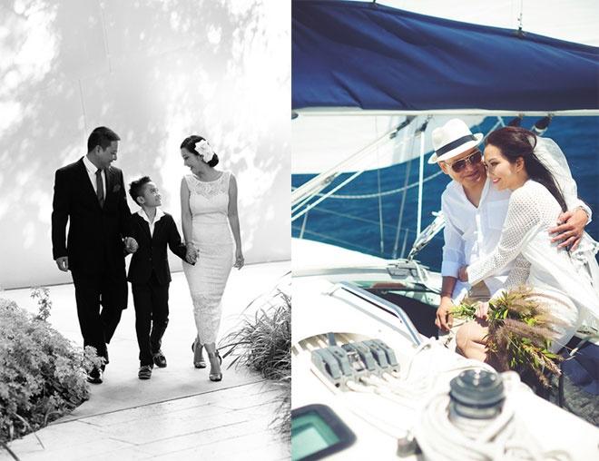 So dang cap vay cuoi cua 5 nang dau xinh dep Vbiz hinh anh 19 Cùng phong cách với áo dài, các mẫu váy cưới của bà mẹ 1 con xinh đẹp này cũng rất đơn giản và sang trọng.