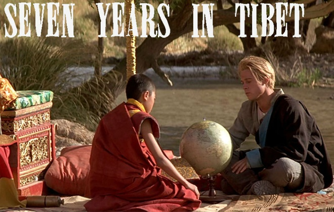 3. Seven Years in Tibet (7 năm ở Tây Tạng): Phim dựa trên câu chuyện có thật về vận động viên leo núi nổi tiếng người Áo Heinrich Harrer, một trong hai người phương Tây đầu tiên tới Tây Tạng.