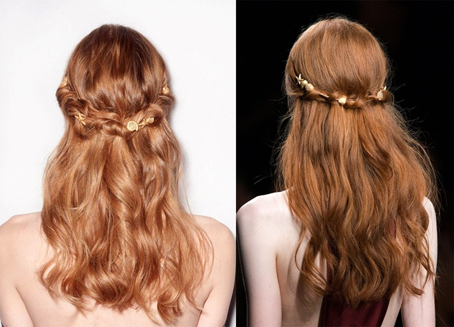 Đây cũng là kiểu tóc và phụ kiện đầy lãng mạn cho bạn làm đẹp trong mùa xuân hạ năm sau.