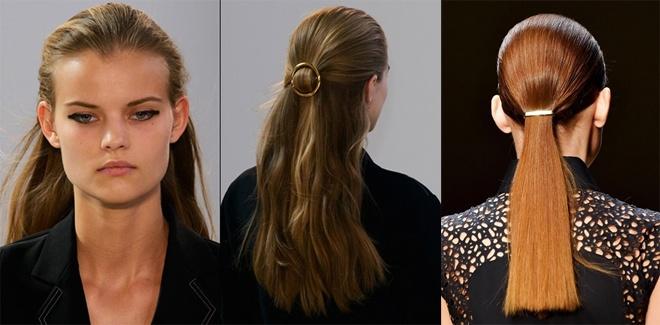 4. Cài tóc ánh kim. Các loại kẹp tóc có kiểu dáng sang trọng, đơn giản được làm bằng vàng hay chất liệu kim loại mạ vàng mang hơi thở vintage sẽ rất được ưu ái trong năm mới 2015.