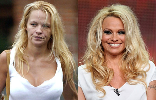 Sao lo mat gia nua vi thieu son phan hinh anh 3 Pamela Anderson.