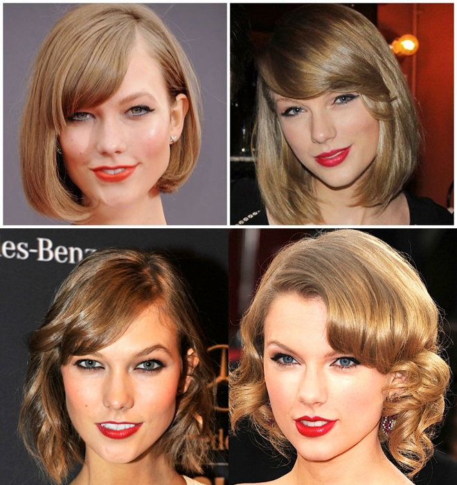 Style tuong dong cua cap doi Taylor Swift - Karlie Kloss hinh anh 4  Và trong nhiều bức hình, kiểu tóc giống nhau khiến fan thật khó phân biệt giữa 2 mỹ nhân này.