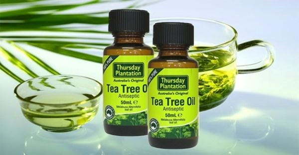 3.Tinh dầu trà xanh: Cảm thấy thực sự mệt mỏi trong một ngày nắng ? Đơn giản chỉ cần thoa lên da của bạn các lớp dầu trà xanh để làm giảm cháy nắng và các vấn đề về da khác rất hiệu quả.