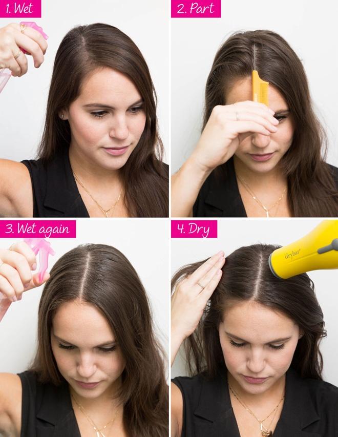 10 meo lam dep doc dao danh cho co nang ban ron hinh anh 2 2. Giữ nếp tóc. Để giữ đường rẽ ngôi hoàn hảo suốt cả ngày, bạn chỉ cần thực hiện mẹo nhỏ gồm 4 bước đơn giản. Đầu tiên thấm ướt tóc bằng nước hoặc keo xịt tóc. Dùng cán lược tạo đường rẽ ngôi như ý thích. Tiếp tục phun 1 lớp nước hoặc keo. Cuối cùng máy sấy để cố định nếp tóc.