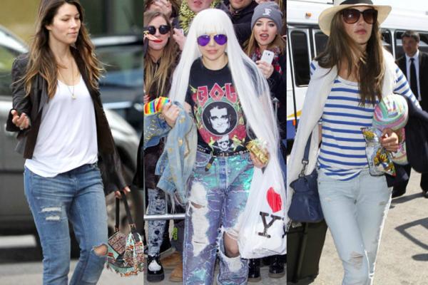Muon kieu dien jeans rach xau - dep cua sao Hollywood hinh anh