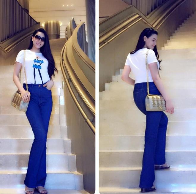 Tuyet chieu giau vong eo sau sinh cua Trang Nhung hinh anh 12