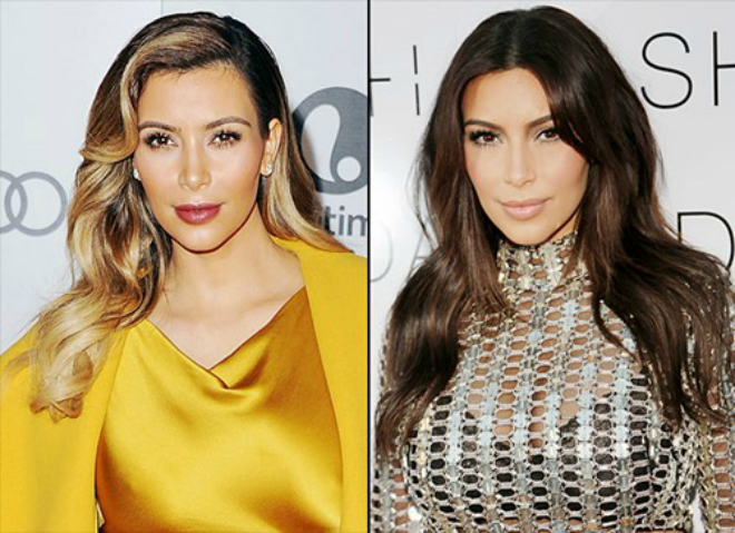 Sao Hollywood quyen ru hon nho thay doi kieu toc hinh anh 1 Cô Kim siêu vòng 3 chọn cho mình màu tóc vàng từ cuối năm 2013, nhưng đến tháng 2 năm 2014, Kim lại quay trở về với mái tóc nâu tự nhiên quen thuộc. Nhiều fan hâm mộ cũng cho rằng Kim Kardashian nên trung thành với màu tóc tự nhiên này của mình.