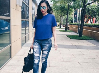 3 mau quan jeans tien trieu cua sao Viet duoc san lung hinh anh
