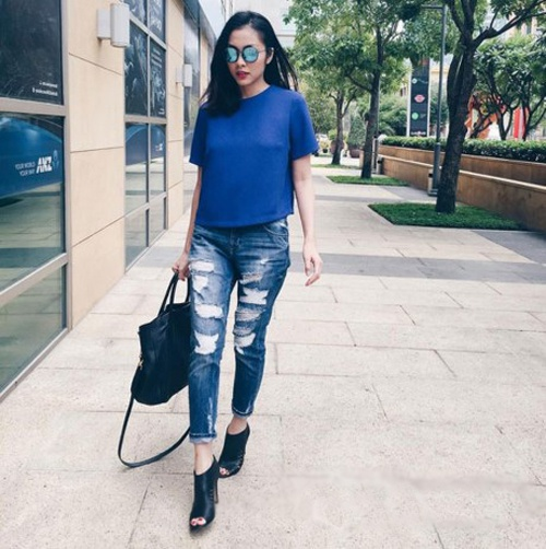 3 mau quan jeans tien trieu cua sao Viet duoc san lung hinh anh 1