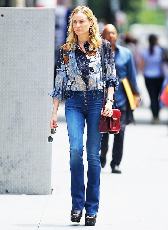 3 mau quan jeans tien trieu cua sao Viet duoc san lung hinh anh 17 Diane Kruger.
