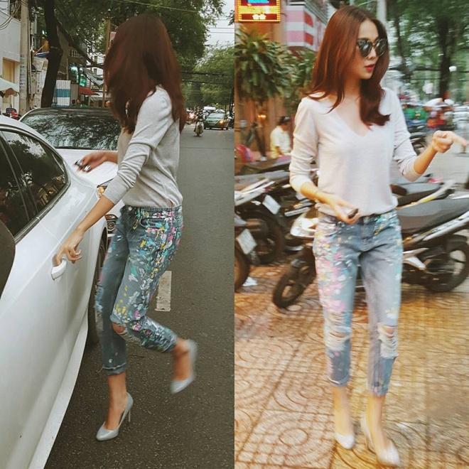 3 mau quan jeans tien trieu cua sao Viet duoc san lung hinh anh 3