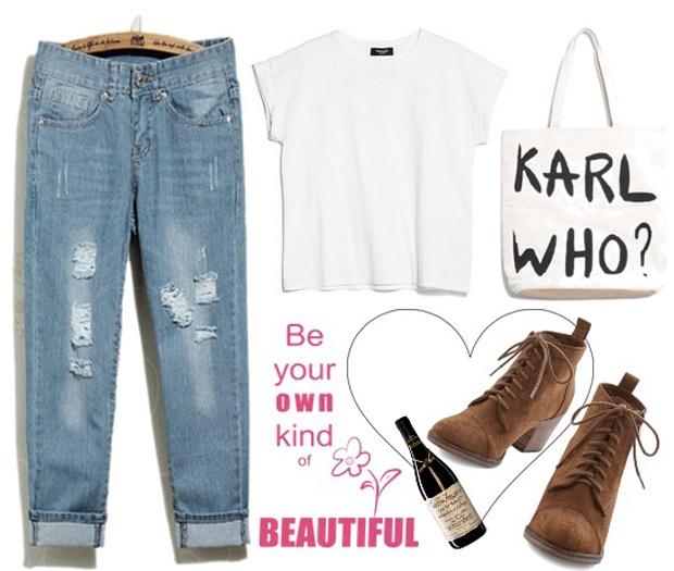 5 set do voi quan jeans boyfriend cho cuoi tuan hinh anh 2 Set đồ 2: Bộ đồ croptop trắng, jeans boyfriend và bốt buộc dây mang lại sự nhẹ nhàng, nhưng vẫn trẻ trung năng động cho bạn gái. Một bộ cánh thoải mái, không quá nổi bật nhưng hoàn toàn phù hợp cho ngày cuối tuần vui chơi với bạn bè.