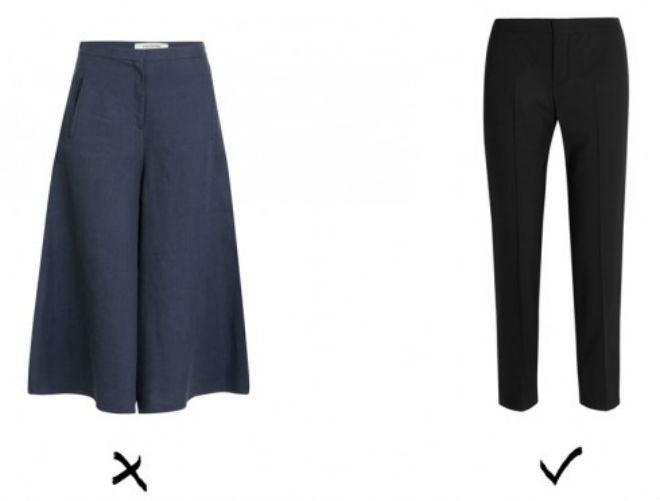 6 item giup an gian chieu cao cho co nang nam lun hinh anh 3 3. Chọn quần: Những chiếc quần tây ống rộng, đặc biệt là quần culottes, sẽ