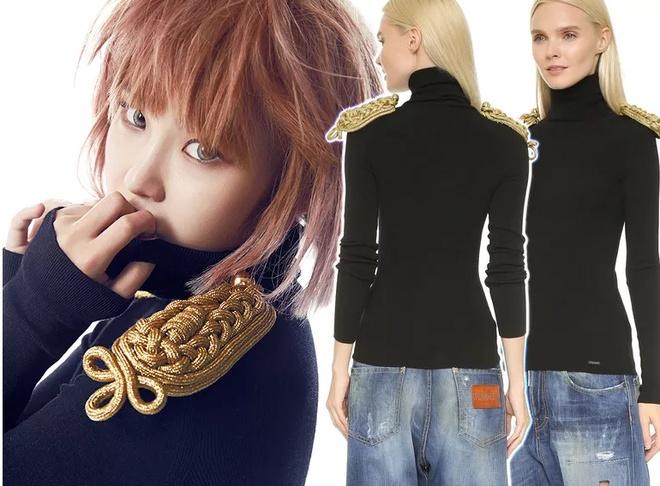 Bi quyet mac ao len cao co ngay lanh cua sao Han hinh anh 3 DSquared2 Long Sleeve Pullover ($1,325.00) Worn By SECRET's Hyosung