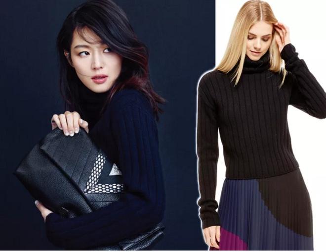 Bi quyet mac ao len cao co ngay lanh cua sao Han hinh anh 5 DKNY Cropped Ribbed Pullover ($235.00) Worn By Jun Ji Hyun