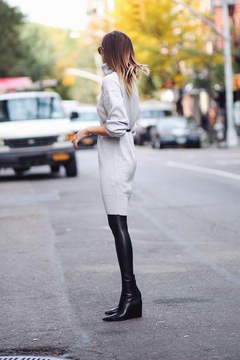 Nen va khong nen khi mac legging hinh anh 3 Nên: Mặc leggings bên trong đầm hoặc váy. Legging không hẳn là quần, do đó nếu chỉ mặc quần leggings mà không kết hợp cùng một chiếc đầm hoặc váy thì sẽ là một sai lầm lớn về thời trang. Phong cách này đang rất được các bạn gái áp dụng bởi dáng vẻ vừa điệu đà vừa khoẻ khoắn. Set đồ cũng thích hợp cho những nàng mặc váy mà không sợ bị hớ hênh.