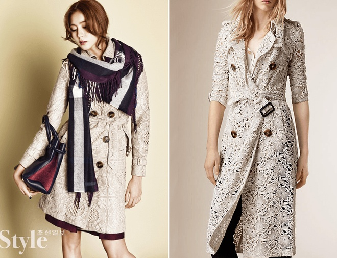 Kim Min Hee Burberry Book Cover Print Trench Coat ($3,995