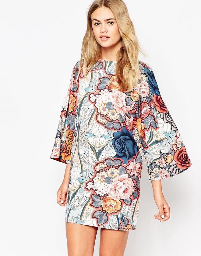 Kết quả hình ảnh cho váy Họa tiết to bảnin hình học