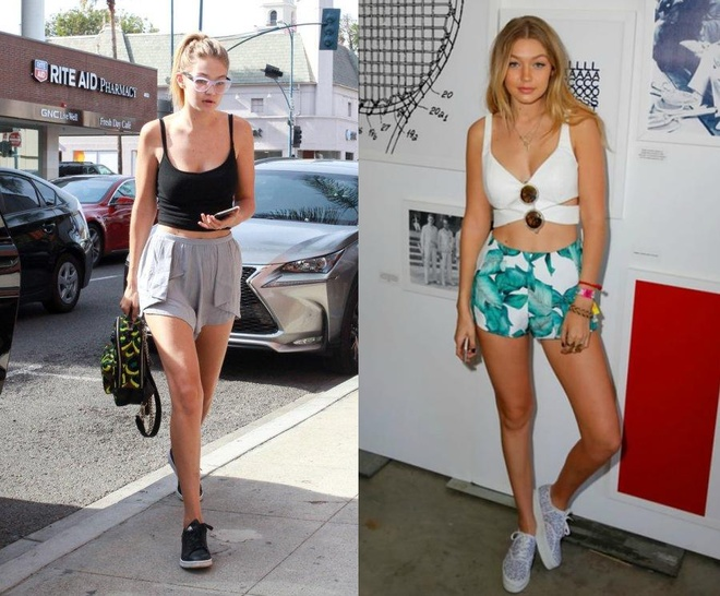 Gigi Hadid goi y cach mix do voi sneakers hinh anh 4