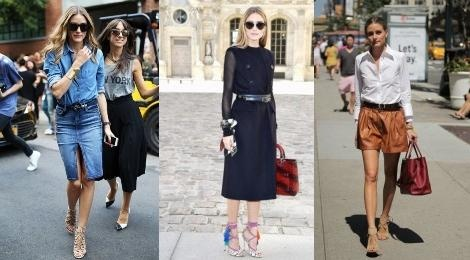 Olivia Palermo goi y cach mix do voi giay cao got buoc day hinh anh