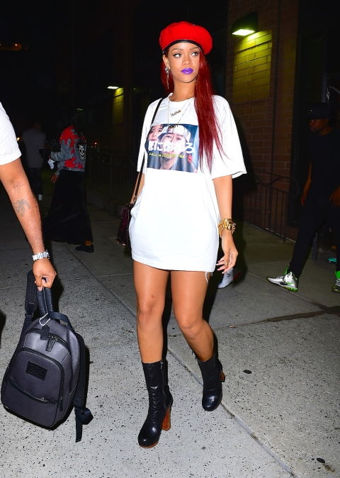 Rihanna dien do the thao cuc chat hinh anh 11