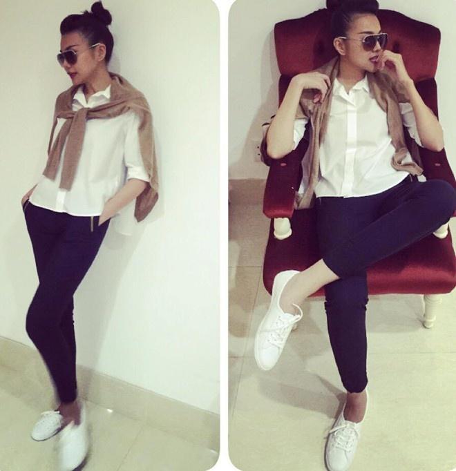 Thanh Hang mix sneaker kheo leo the nao? hinh anh 9