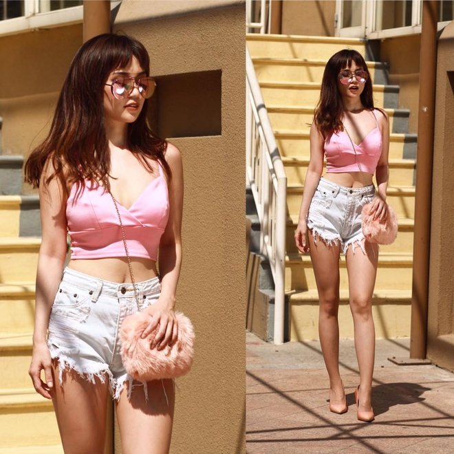 Si Thanh goi y cach mix ao crop top hinh anh 17