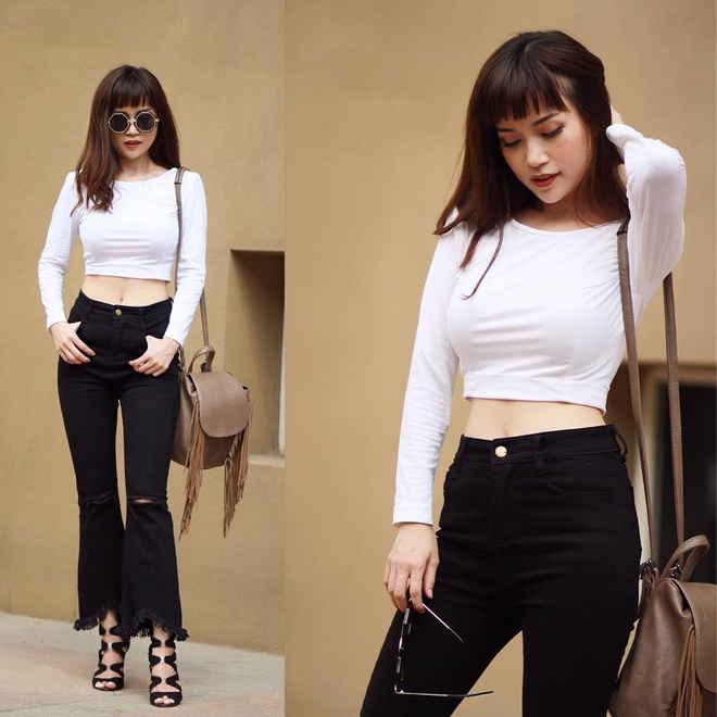 Si Thanh goi y cach mix ao crop top hinh anh 12
