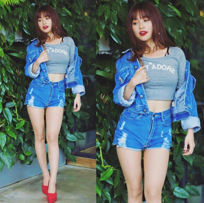 Si Thanh goi y cach mix ao crop top hinh anh 8