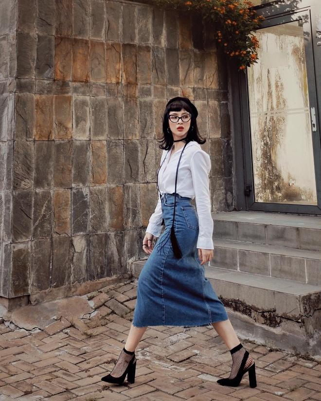 Angela Phuong Trinh 'nghien' mac so mi xuong pho hinh anh 2