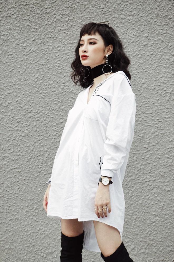Angela Phuong Trinh 'nghien' mac so mi xuong pho hinh anh 4