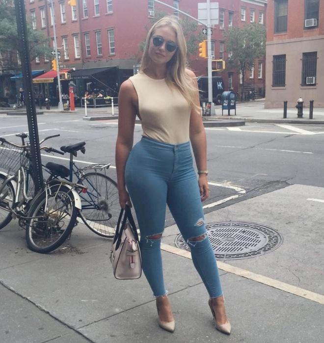 Meo chon skinny jeans cho co nang beo anh 11