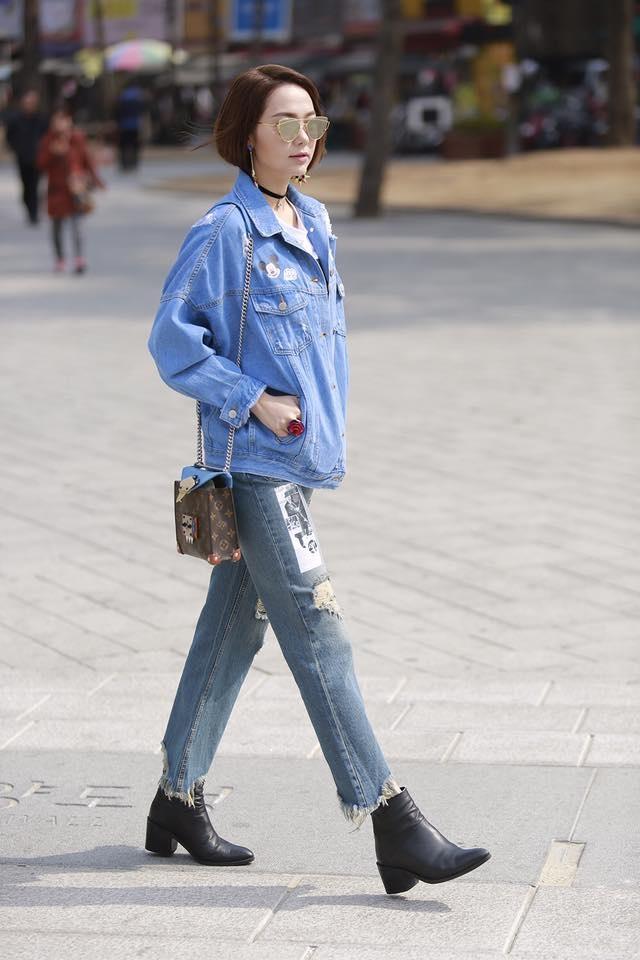 Minh Hang tich cuc lang xe mau jeans xe gau hinh anh 6