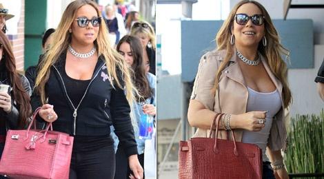 Boc gia mau tui dat do duoc Mariah Carey mang theo moi noi hinh anh