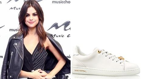 Boc gia BST sneakers trang khien moi co gai them muon cua Selena Gomez hinh anh