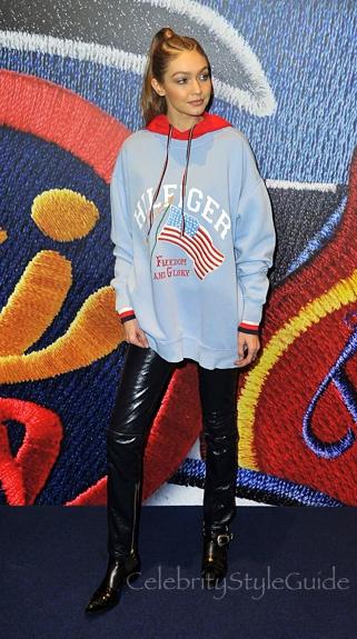 Gigi Hadid phoi do voi ao hoodie anh 10