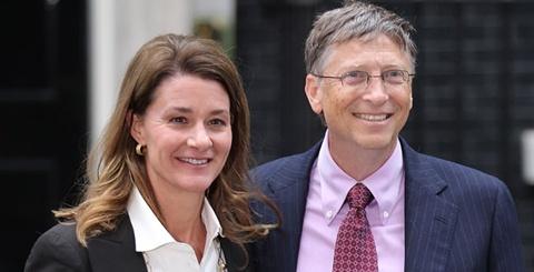 Nguoi dan ba hoan hao phia sau ty phu Bill Gates hinh anh